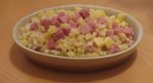 Risotto de coquillettes au jambon
